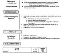 Lubricante De Cadenas Para Motosierras Y Maquinaria Mtc 220