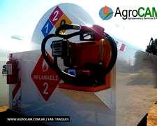 Tanques Combustibles Con Batea Y Surtidor / Completos Hab.