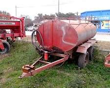 Acoplado Cisterna 3000 Litros C/bomba