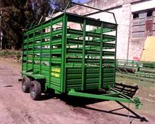 Carro Vaquero Tipo Balancin La Guapa Para 5 Animales