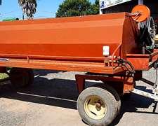 Acoplado Tanque De 3000 L, Con Bomba Y Deposito De Agua