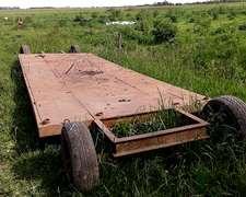 Carreton Para Transporte De Rollos Bajo 10 Mts 8,5 Mts Utile