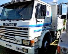 Camión Scania 93h 250 Con Carrocería Baranda Volcable