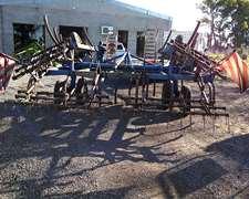 Cincel Agroindustrial De 26 Púas Vertebrado Con Peine