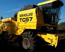 Cosechadora New Holland Tc 57 Año 2003 Con Draper
