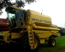 Cosechadora New Holland Tc 59 Año 2001 Cabezal 23 Pies