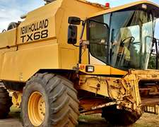 New Holland Tx 68. Año 2.000.- Con Plataforma De 30 Pies.-
