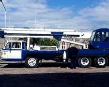 Grua Hidráulica Sobre Camión Hidrogrubert Gh 10/30 Año 1987