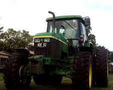 Tractor Jhon Deere Modelo 7500 Año 2002 Cabina Original J