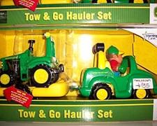 Set Auto Remolque Y Tractor John Deere. Promo